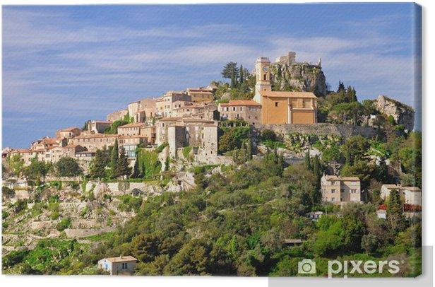 Tableau sur toile Village de montagne médiéval d'Eze sur Monaco - Europe