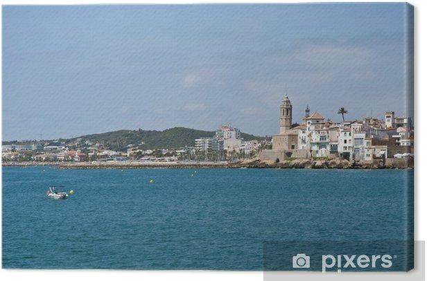 Tableau sur toile Village horizon à Sitges, Espagne - Villes européennes