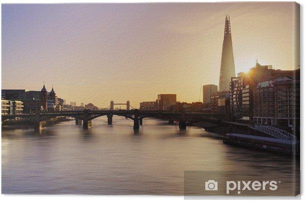 Tableau sur toile Ville de Londres horizon au lever du soleil, Royaume-Uni - Thèmes