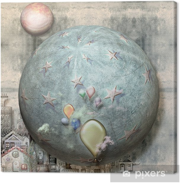 Tableau sur toile Ville de rêves étranges - Autres sentiments