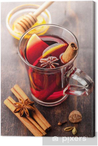 Tableau sur toile Vin chaud avec du miel et des épices - Thèmes