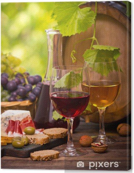 Tableau sur toile Vin et fromage - Thèmes