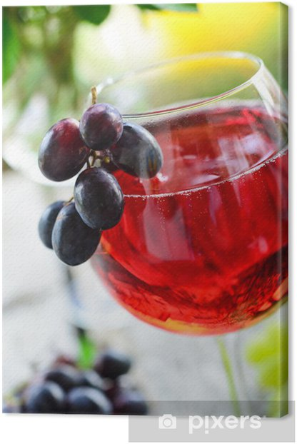 Tableau sur toile Vin rouge spritzer - Délices d'été - Industrie lourde