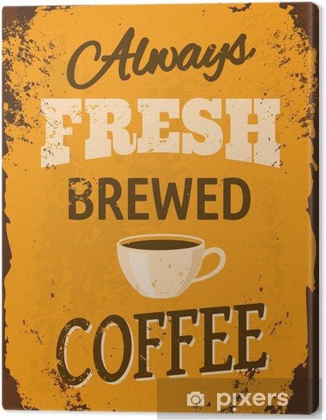 Tableau sur toile Vintage Café Plaque en métal - Pour café