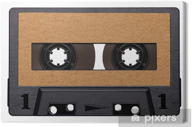 Tableau sur toile Vintage cassettes de musique audio - Musique