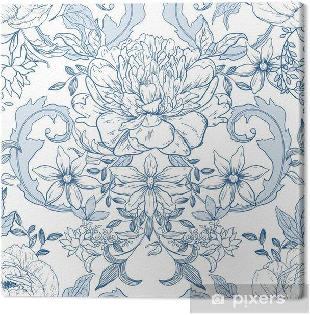 Tableau sur toile Vintage floral background - Arrière plans