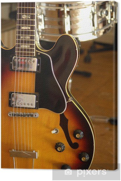 Tableau sur toile Vintage guitare électrique 6 - Thèmes