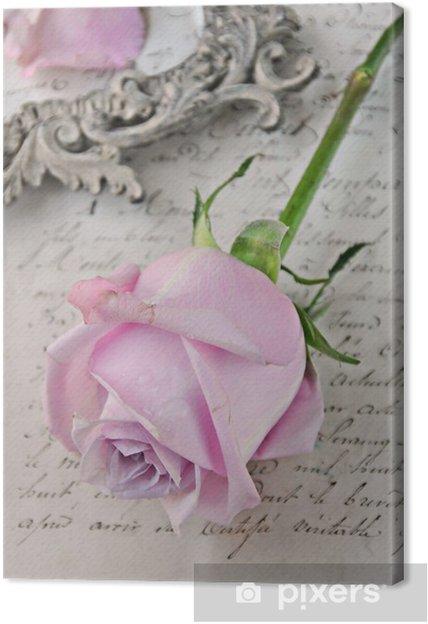 Tableau sur toile Vintage rose - Thèmes