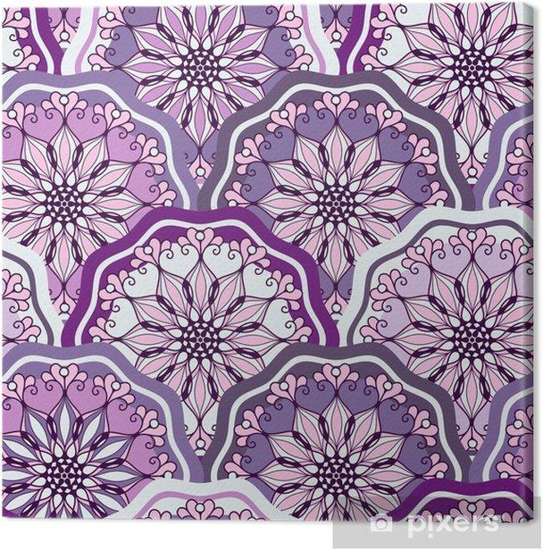 Tableau sur toile Vintage seamless pattern - Fêtes internationales