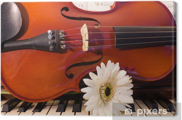 Tableau sur toile Violon, Piano, et une fleur blanche • Pixers® - Nous  vivons pour changer