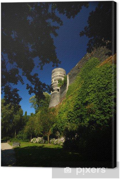 Tableau sur toile Visite château d'Angers - Vacances