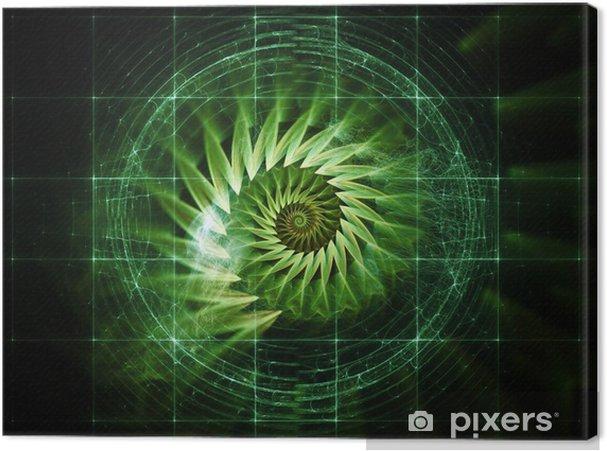 Tableau sur toile Visualisation de l'espace numérique - Merveilles naturelles