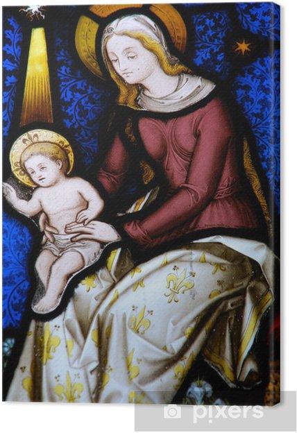 Tableau sur toile Vitrail religieux - Religion