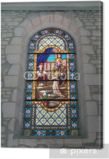 Tableau sur toile Vitraux Eglise Dolus - Oléron - Religion