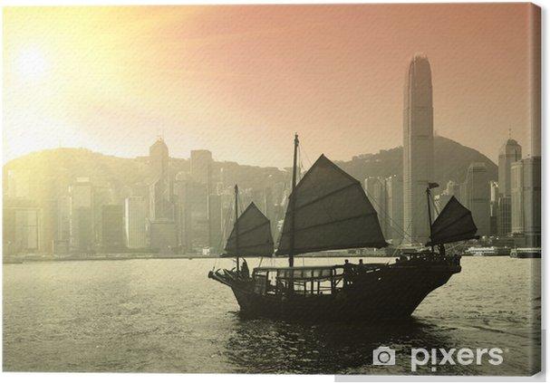 Tableau sur toile Voile port de Victoria à Hong Kong - Bateaux, yachts et bateaux