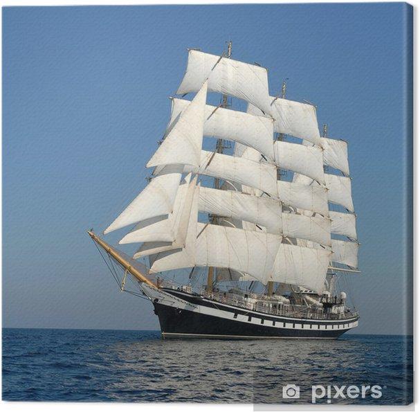 Tableau sur toile Voilier. série de navires et yachts - Bateaux