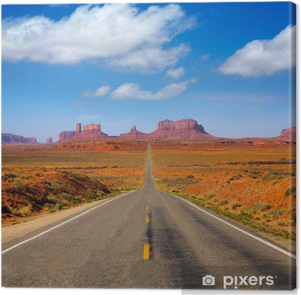 Tableau sur toile Voir à partir de US 163 Route panoramique de Monument Valley Utah - Thèmes