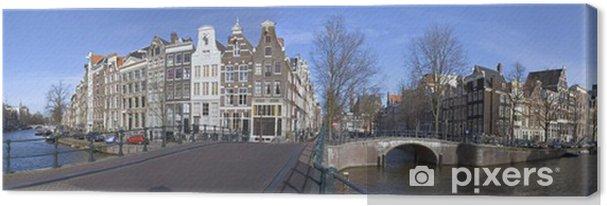 Tableau sur toile Voir au-Keizersgracht Leidsegracht à Amsterdam aux Pays-Bas - Paysages urbains