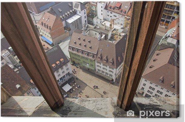 Tableau sur toile Voir des bâtiments dans la ville de Fribourg-en-Brisgau, Allemagne - Paysages urbains