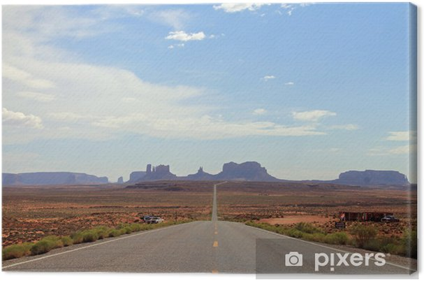 Tableau sur toile Voir Distant de Monument Valley, Utah, USA - Amérique