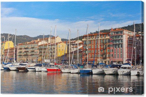 Tableau sur toile Voir sur le Port de Nice, Côte d'Azur, France - Europe