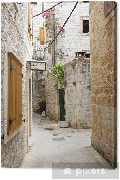 Tableau sur toile Voir sur une ruelle étroite - Trogir, Croatie. - Thèmes