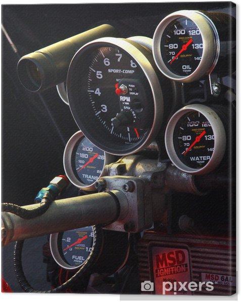 Tableau sur toile Voiture cokpit - Sur la route