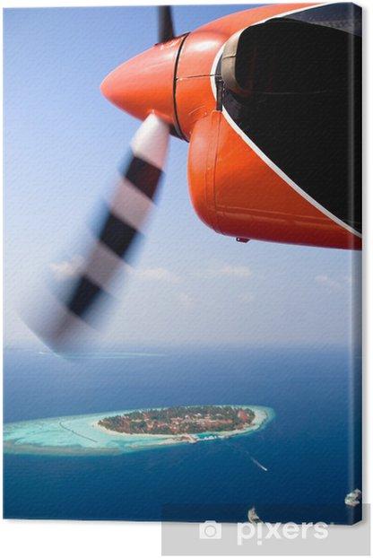 Tableau sur toile Vol à Maldives - Vacances