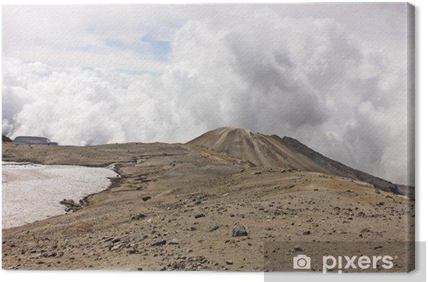 Tableau sur toile Volcan Glacier Nevado del Ruiz, Los Nevados Parque Nacional Nat - Montagne