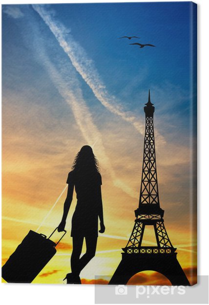 Tableau sur toile Voyage à Paris - Villes européennes