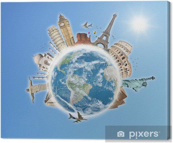 Tableau sur toile Voyage dans le concept de monde monuments 5 - Vacances