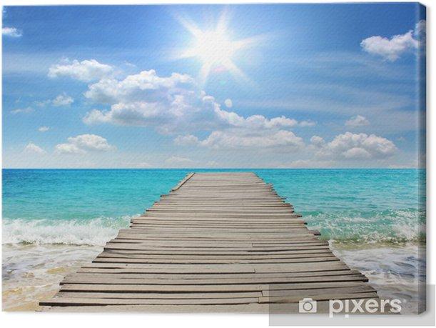 Tableau sur toile Voyage Mer pendant les vacances - Quai