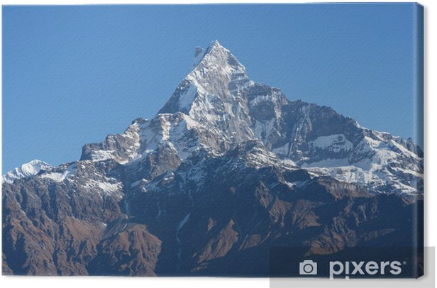 Tableau sur toile Vue aérienne de la chaîne de l'Annapurna en partie l'Himalaya du Népal - Thèmes