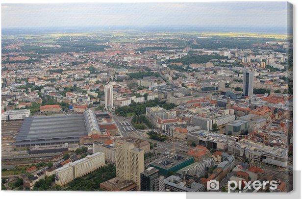 Tableau sur toile Vue aérienne de Leipzig - Vacances