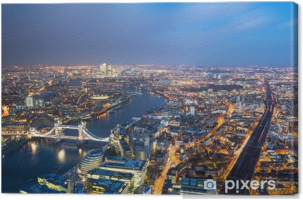 Tableau sur toile Vue aérienne de Londres - Villes européennes