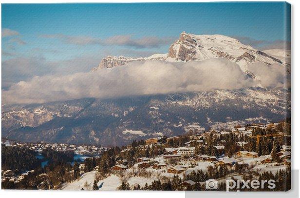 Tableau sur toile Vue aérienne sur la station de ski de Megève dans les Alpes françaises, France - Vacances