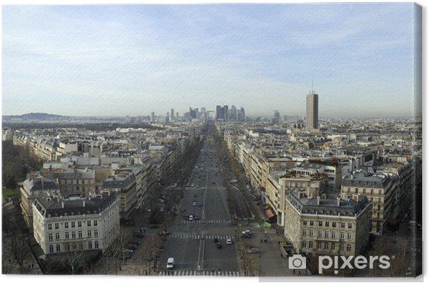 Tableau sur toile Vue de La Défense DEPUIS Paris - Villes européennes