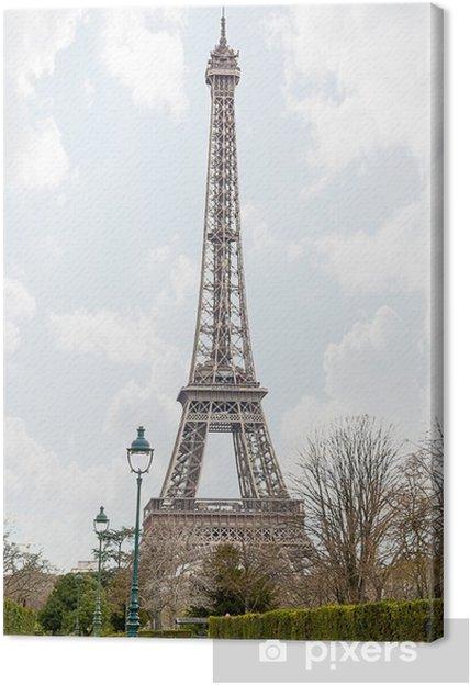 Tableau sur toile Vue de la Tour Eiffel - Villes européennes