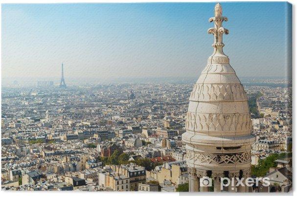 Tableau sur toile Vue de Paris depuis le Sacré-Coeur - Paysages urbains