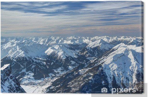 Tableau sur toile Vue depuis la Zugspitze - Vacances