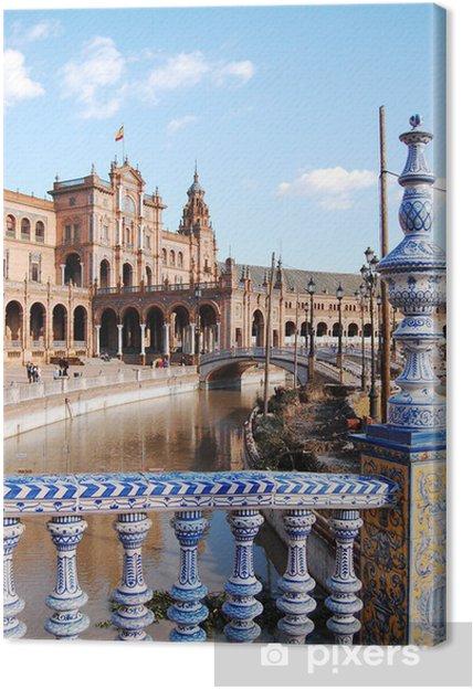 Tableau sur toile Vue depuis le pont de la Place d'Espagne - Séville - Espagne - Vacances