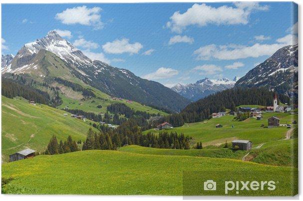 Tableau sur toile Vue des Alpes (Vorarlberg, Autriche) - Destin