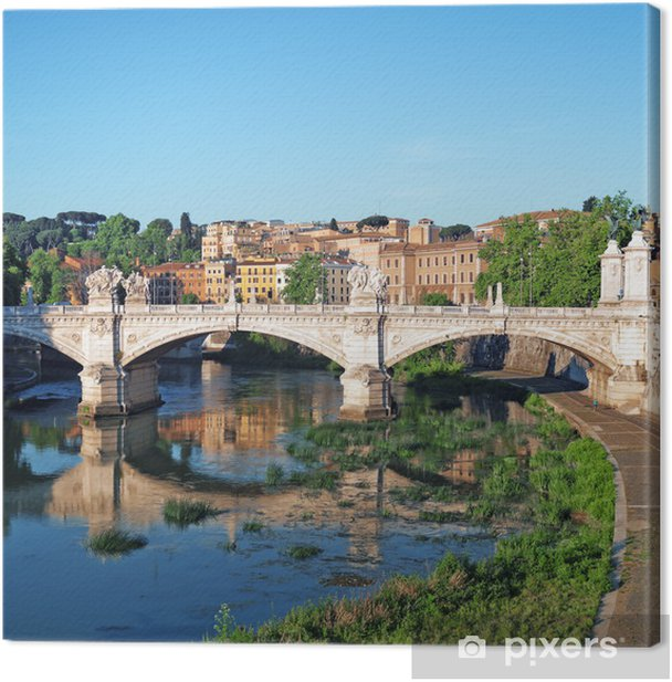 Tableau sur toile Vue du quartier de Trastevere à Rome - Italie - Villes européennes