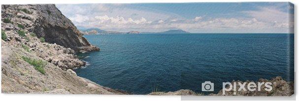 Tableau sur toile Vue panoramique de la côte de la mer de la mer Noire - Vacances