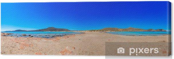 Tableau sur toile Vue panoramique de la Grèce aux eaux claires de la mer avec blu - Villes européennes