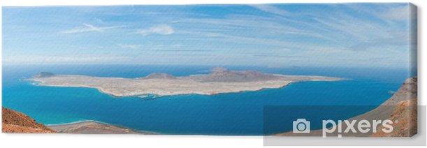 Tableau sur toile Vue panoramique della Graciosa, Lanzarote - Vacances