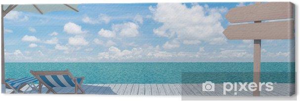 Tableau sur toile Vue panoramique sur la mer - Art et création