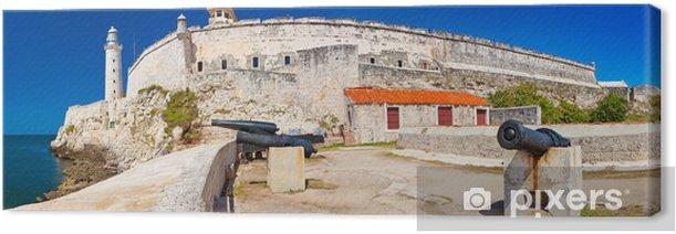 Tableau sur toile Vue panoramique sur le château d'El Morro à La Havane - Amérique