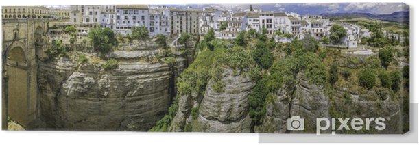Tableau sur toile Vue panoramique sur Ronda New Bridge et la ville - Europe