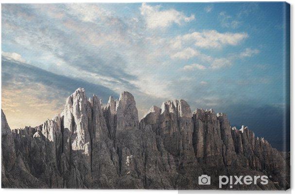 tableau sur toile vue panoramique sur une cha ne de montagnes dans le tyrol du sud pixers. Black Bedroom Furniture Sets. Home Design Ideas